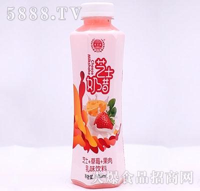 优贝源芝士奶昔芝士+草莓乳味饮料