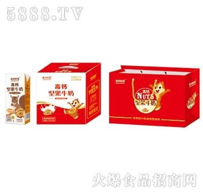 君邦牧场高钙坚果牛奶复合蛋白饮料250mlx12盒