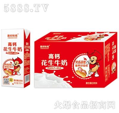 君邦牧场高钙花生牛奶复合蛋白饮料(箱)