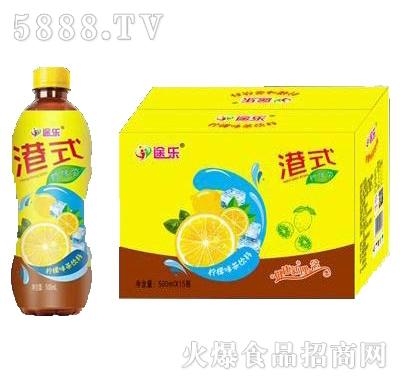 途乐港式柠檬茶饮料500mlx15瓶