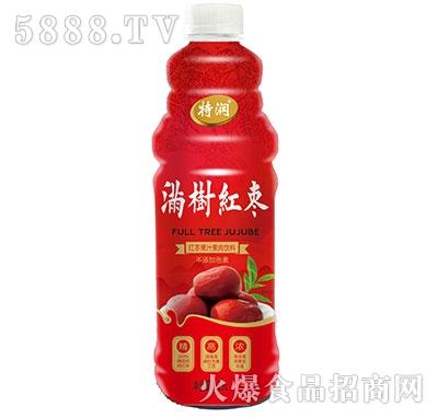 特润满树红枣果汁果肉饮料1.25L
