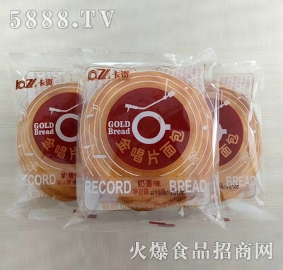 卡资金唱片奶香味面包100g