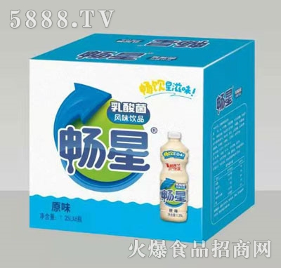 畅星乳酸菌饮品原味1.25LX6