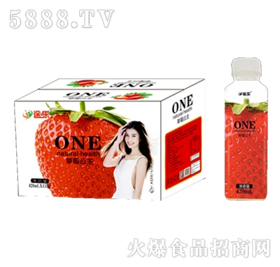 途乐草莓公主饮料420mlx15瓶