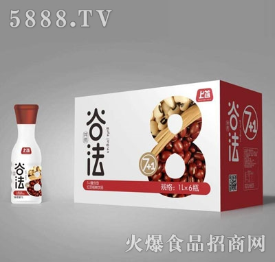 上首7+1复合型红豆粗粮饮料1LX6