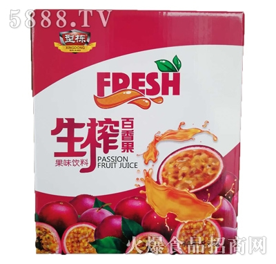 型动生榨百香果果汁饮料1.5Lx6瓶
