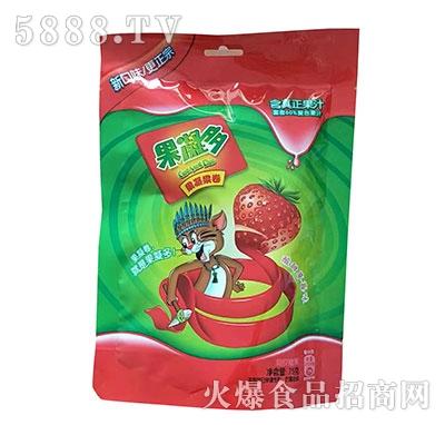 果凝多果凝果卷草莓味75克