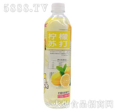一起嘿吧柠檬苏打碳酸饮料500ml
