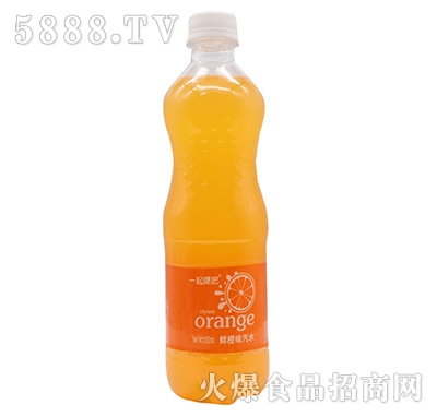 一起嘿吧甜橙味汽水500ml