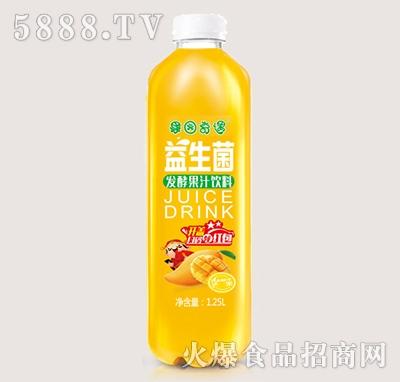 果园奇遇益生菌发酵芒果果汁饮料1.25L