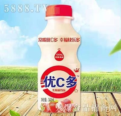 优C多乳酸菌饮料草莓味340ml