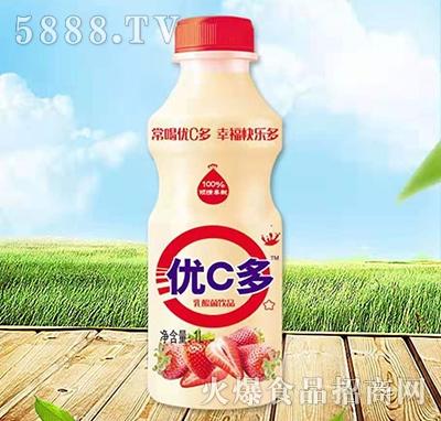 优C多乳酸菌饮料草莓味1L
