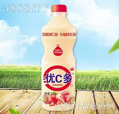 优C多乳酸菌饮料草莓味1.25L