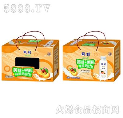 甄利黄桃+果粒酸奶饮料310mlx12瓶