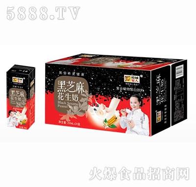 蓉城家人黑芝麻花生奶复合植物蛋白饮料250ml×24盒