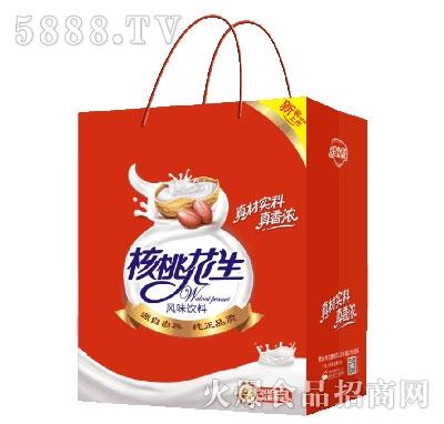 金娇阳核桃花生手提袋小方盒