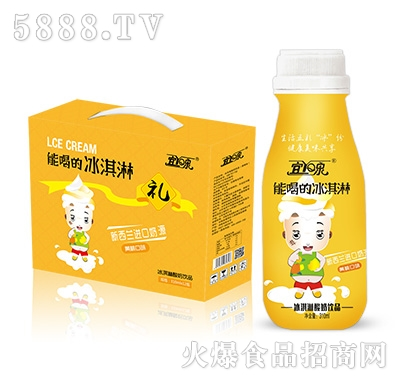 宜泉黄桃味冰淇淋酸奶饮品310mlx12瓶