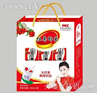 卫邦红枣印象大红枣果味饮品250mlx12盒