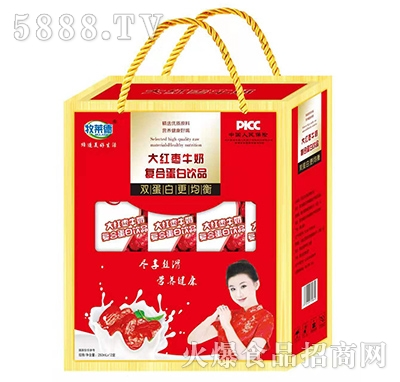 牧莱德大红枣牛奶礼盒