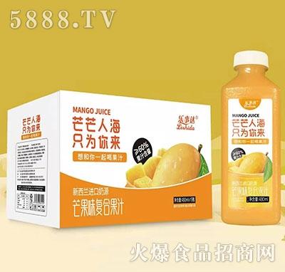 乐事达芒果味复合果汁480mlx15