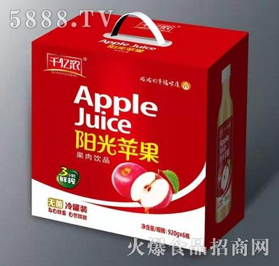 千亿浓阳光苹果果肉饮品920mlX6