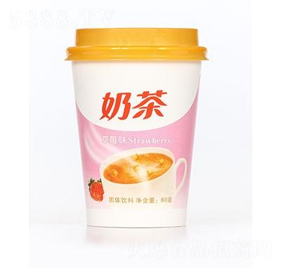 飘飘缘奶茶草莓味80g