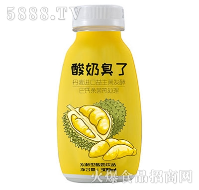 酸奶臭了发酵型榴莲酸奶300ml