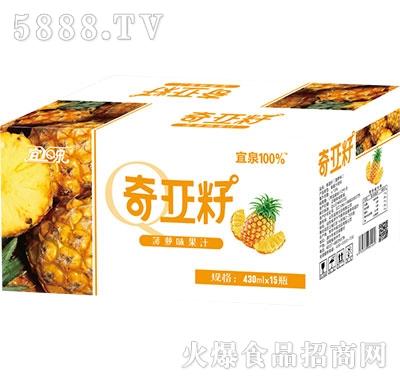 宜泉奇亚籽菠萝味果汁430ml×15瓶