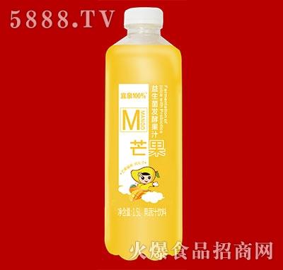 宜泉果蔬汁饮料益生菌发酵果汁芒果味1.5L