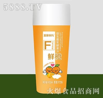宜泉果蔬汁饮料益生菌发酵果汁鲜橙味430ml