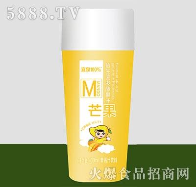 宜泉果蔬汁饮料益生菌发酵果汁芒果味430ml