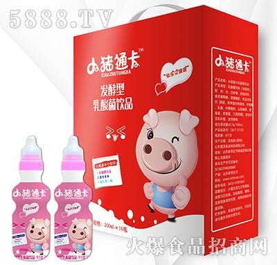 小猪通卡发酵型乳酸菌饮品草莓味200mlx16