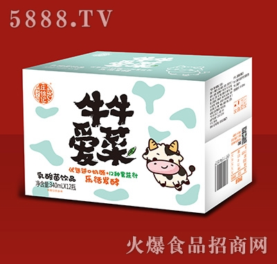 庄锦记牛牛爱菜乳酸菌饮品340mlx12瓶