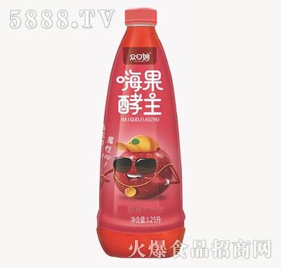 众口妙嗨果酵主山楂果汁饮料1.25L