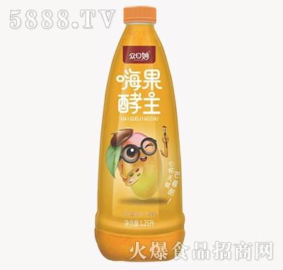 众口妙嗨果酵主芒果果汁饮料1.25L