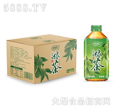 优乐冠青梅绿茶茶味饮料1L×10瓶