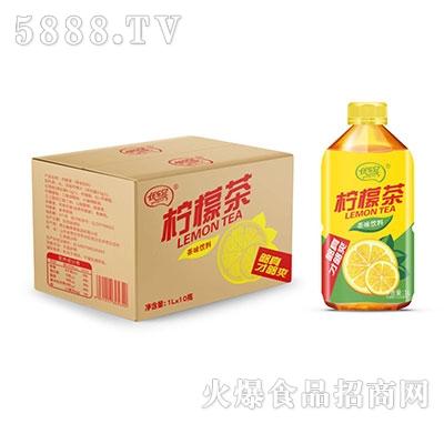 优乐冠柠檬茶1L×10瓶