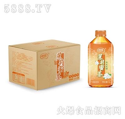 优乐冠茉莉蜜茶茶味饮料1L×10瓶
