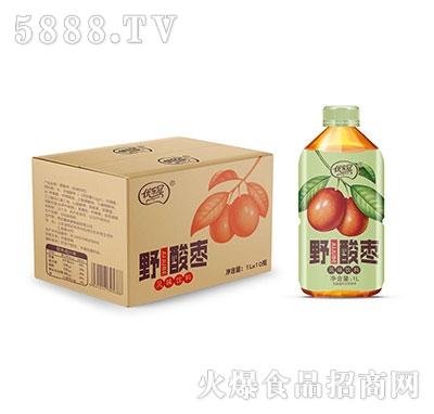 优乐冠野酸枣风味饮料1L×10瓶
