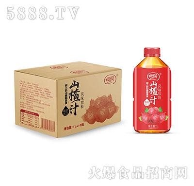 优乐冠山楂汁风味饮料1L×10瓶