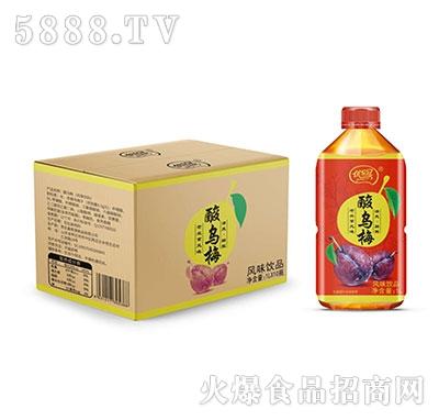 优乐冠酸乌梅风味饮品1L×10瓶