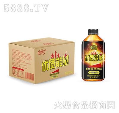 优乐冠优质能量牛磺酸强化维生素功能饮料1L×10瓶
