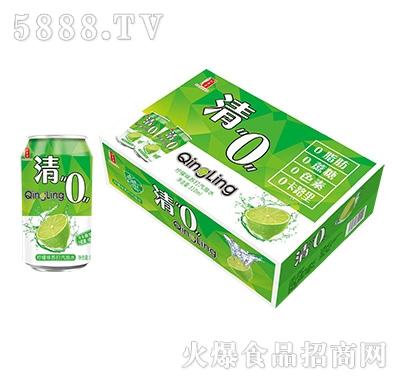 清0柠檬味苏打气泡水箱装+罐装