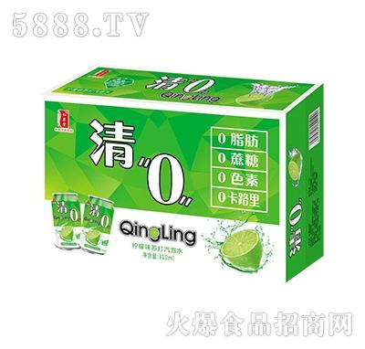 清0柠檬味苏打气泡水箱装
