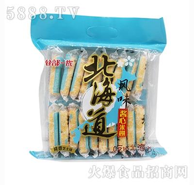 谷部一族北海道风味酱心米饼咸香芝士味168克