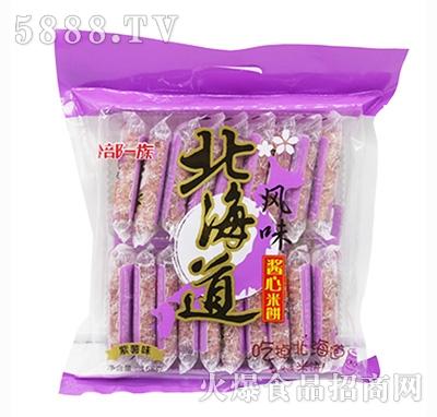 谷部一族北海道风味酱心米饼紫薯味168克