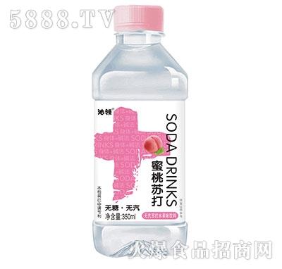 沁领蜜桃苏打水果味饮料350ml