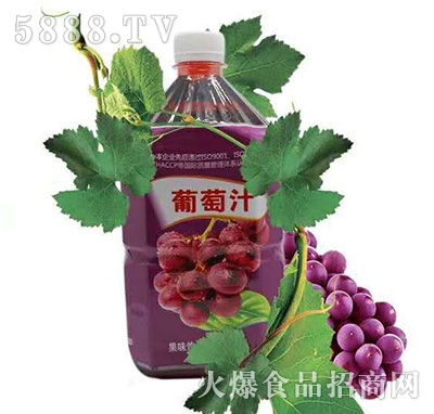佳美葡萄汁果味饮料1L