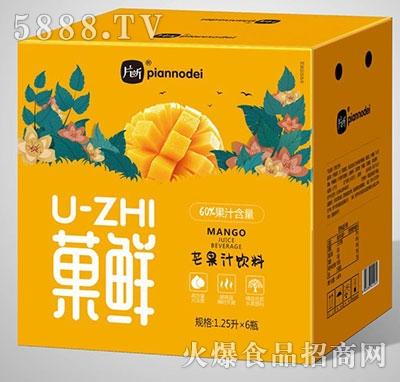 片断菓鲜芒果汁1.25Lx6