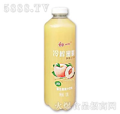初一冷榨蜜桃益生菌果汁饮料1.26L